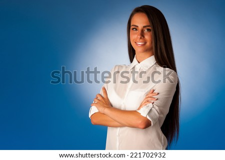 portrait of Beautiful hispanic business woman #221702932