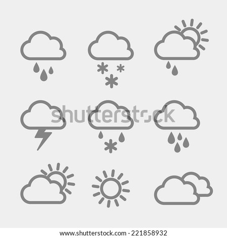 Set of weather icons.  #221858932