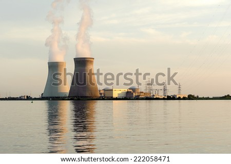Cooling Towers nuclear power plant, Doel, Belgium. #222058471