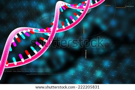 Digital illustration DNA structure in colour background  #222205831