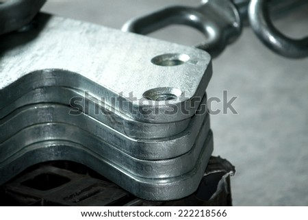 Steel hardware for fitting electric cable with steel tower #222218566