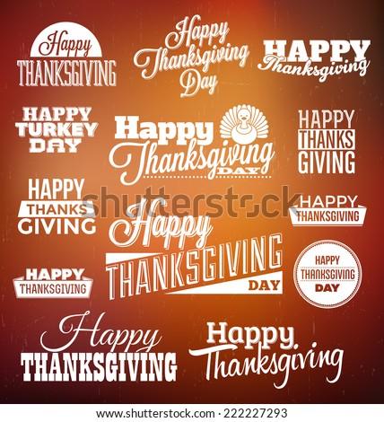 Typographic Thanksgiving Design Set