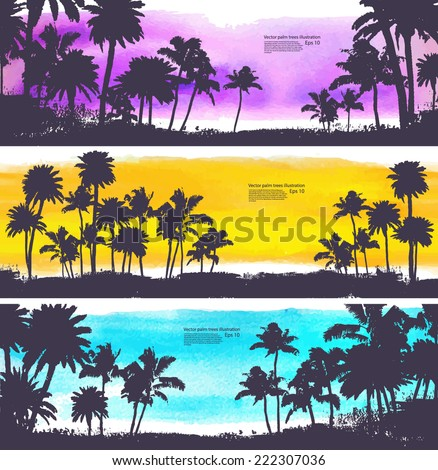 Vector Palm trees illustration for your business
