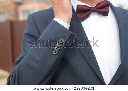 fragment of a man's suit. the bow tie #222334201
