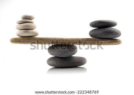 balancing stones on white background #222348769