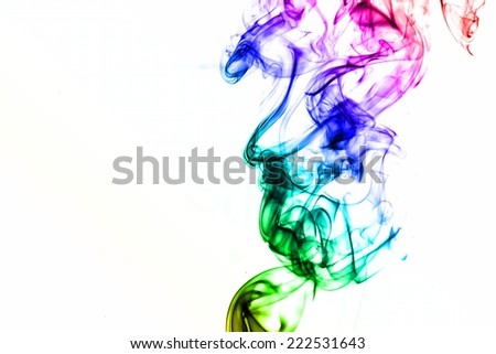 Abstract of color smoke on white background. #222531643