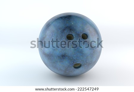 bowling ball isolated on white background/Bowling Ball #222547249