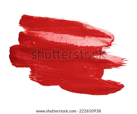 Hand made oil paint brush stroke isolated over the white background as a design element of a backdrop #222650938