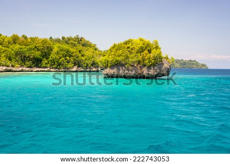 The stunning colors of the remote Togean Islands, Central Sulawesi, Indonesia. #222743053
