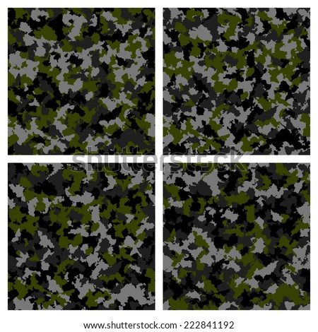Set of seamless camouflage pattern #222841192
