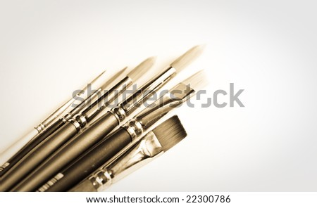 Collection  of paintbrushes #22300786