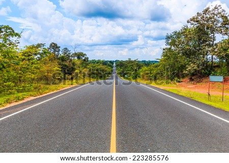 asphalt road - highway #223285576