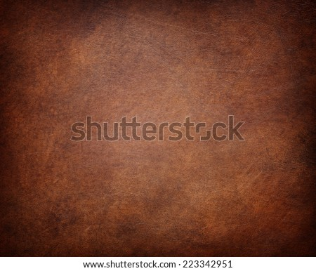 brown leather texture (may used as background). Royalty-Free Stock Photo #223342951