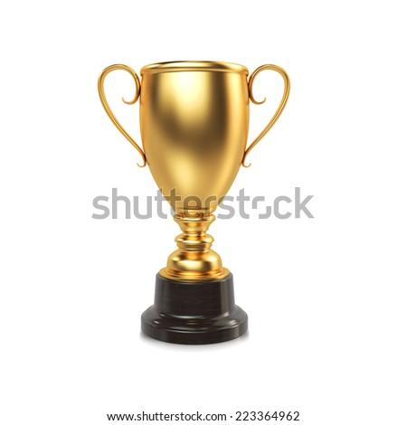 Winner cup. High resolution. 3D render #223364962