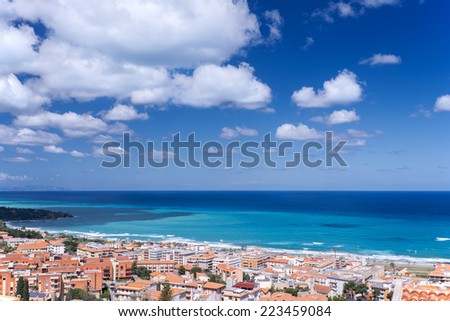 View at Cefalu in Sicily,  the largest Italian island #223459084