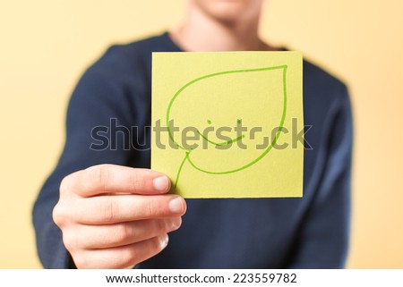 image icon leaf in hand #223559782