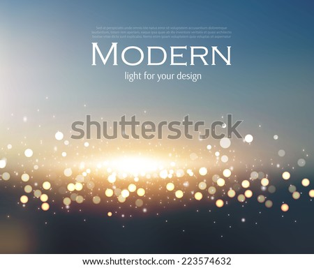 Abstract colorful bokeh background. Vector illustration