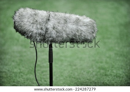 Close up with a professional sport microphone