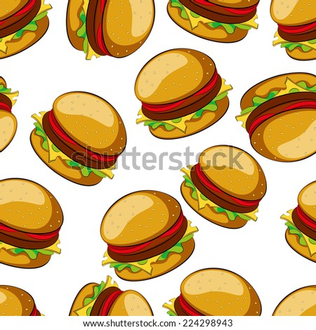 Hamburger seamless pattern  illustratio clip art