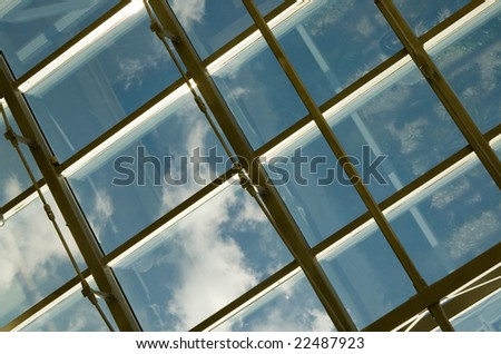 Transparent ceiling of an  modern office building #22487923