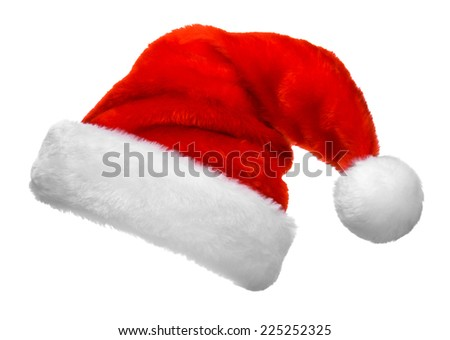 Santa Claus red hat isolated on white background Royalty-Free Stock Photo #225252325