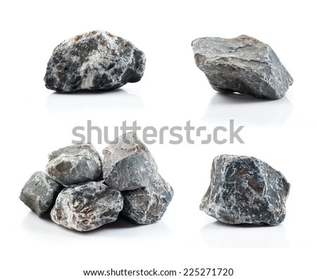 Fragment of granite on a white background. #225271720