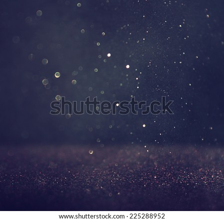 glitter vintage lights background. silver and black. defocused.  Royalty-Free Stock Photo #225288952