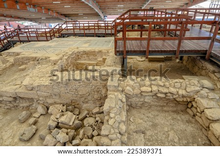 Ruins of Eustolios house at ancient town Kourion on Cyprus #225389371