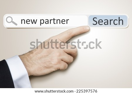 An image of a man who is searching the web after new partner #225397576