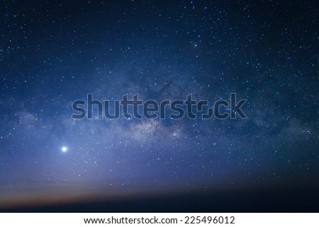 Milky way galaxy with stars and space dust in the universe Royalty-Free Stock Photo #225496012