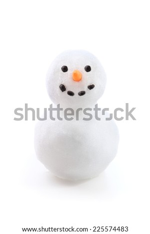 Isolated snowman Royalty-Free Stock Photo #225574483