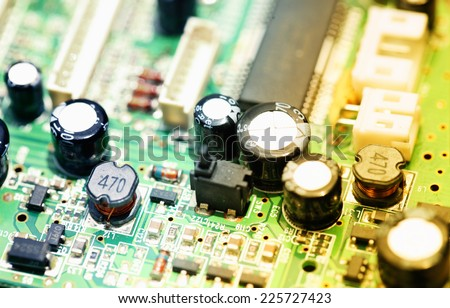 Close up of an electronic circuit board #225727423