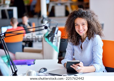 Successful business woman working at the office Royalty-Free Stock Photo #225762442
