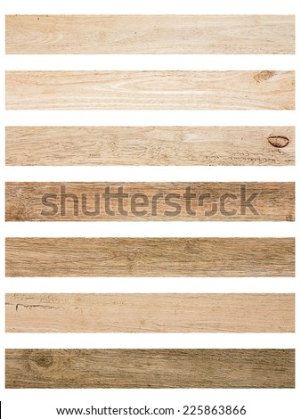 Isolate Wood plank brown texture background.Collection of  wood planks: concept wood decorate Web pages, book covers, floor and wall tiles, background, interior, office and school boards, billboards. Royalty-Free Stock Photo #225863866