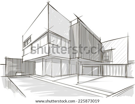 Architecture sketch Royalty-Free Stock Photo #225873019