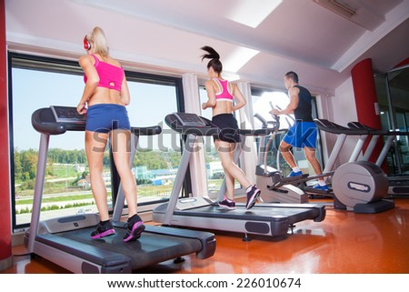 gym shot - people running on machines, treadmill #226010674
