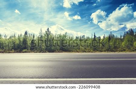 asphalt road and forest #226099408