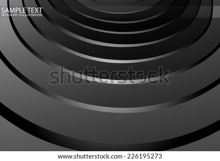 Vector silver arcs spreading background illustration -  Metal vector background modern design illustration #226195273