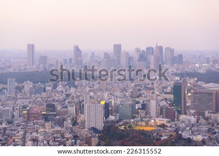 Tokyo in the twilight, direction to Shibuya, Shinjuku #226315552