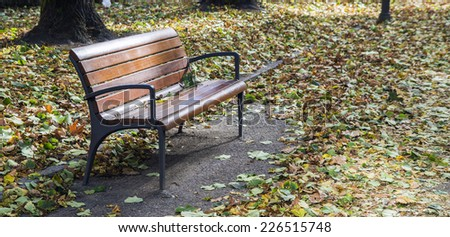bench in autumn #226515748
