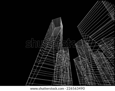 abstract city buildings sketch #226563490