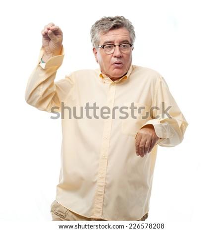 senior cool man dancing #226578208