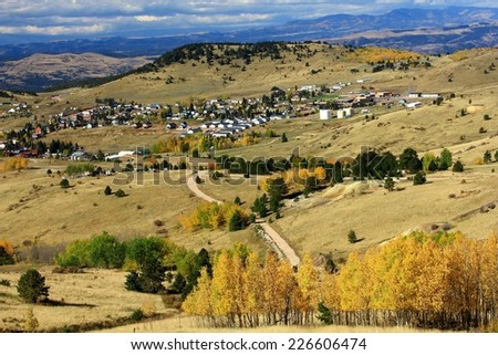 View of old mining and gambling town Cripple Creek, Colorado #226606474