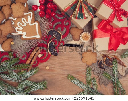 Gingerbread cookies with christmas  decoration #226691545