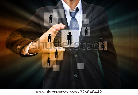 Businessman Choosing the right person #226848442