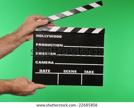 green screen movie clapper