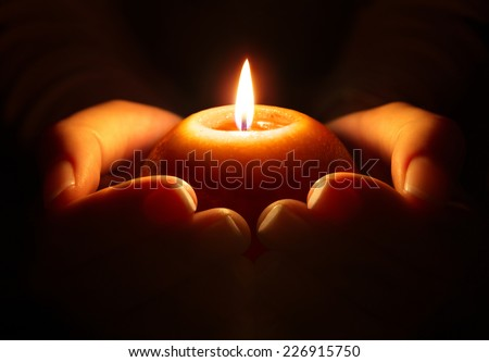 prayer - candle in hands  #226915750