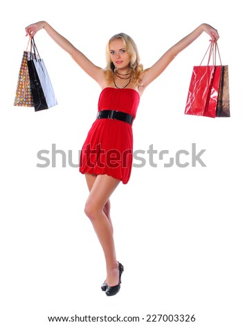 Woman on the shopping #227003326