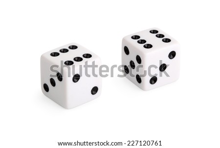 White dice isolated on white background #227120761