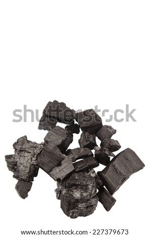 Lump of charcoal over white background #227379673